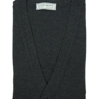 Merino Waistcoat - Charcoal