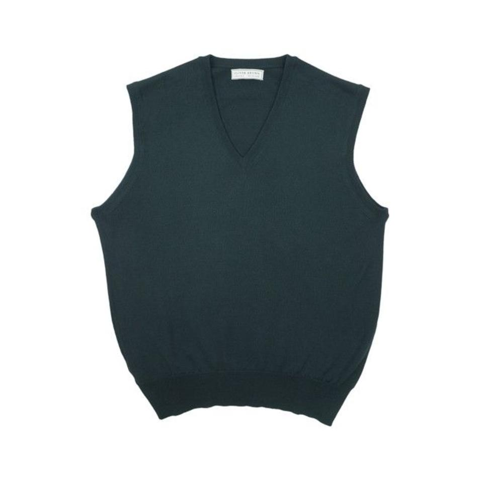 Merino Sleeveless Jumper - Bottle Green
