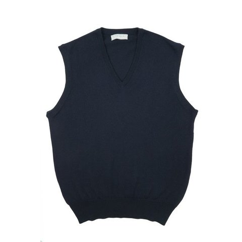 Merino Sleeveless Jumper - Navy
