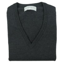 Merino Sleeveless Jumper - Dark Grey