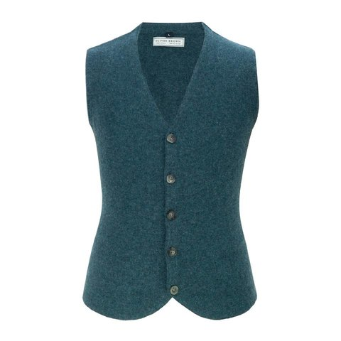Cotton and Merino Waistcoat - Pine