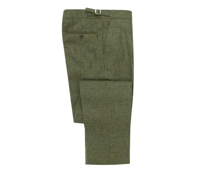 Pleated Trousers - Teviot Tweed