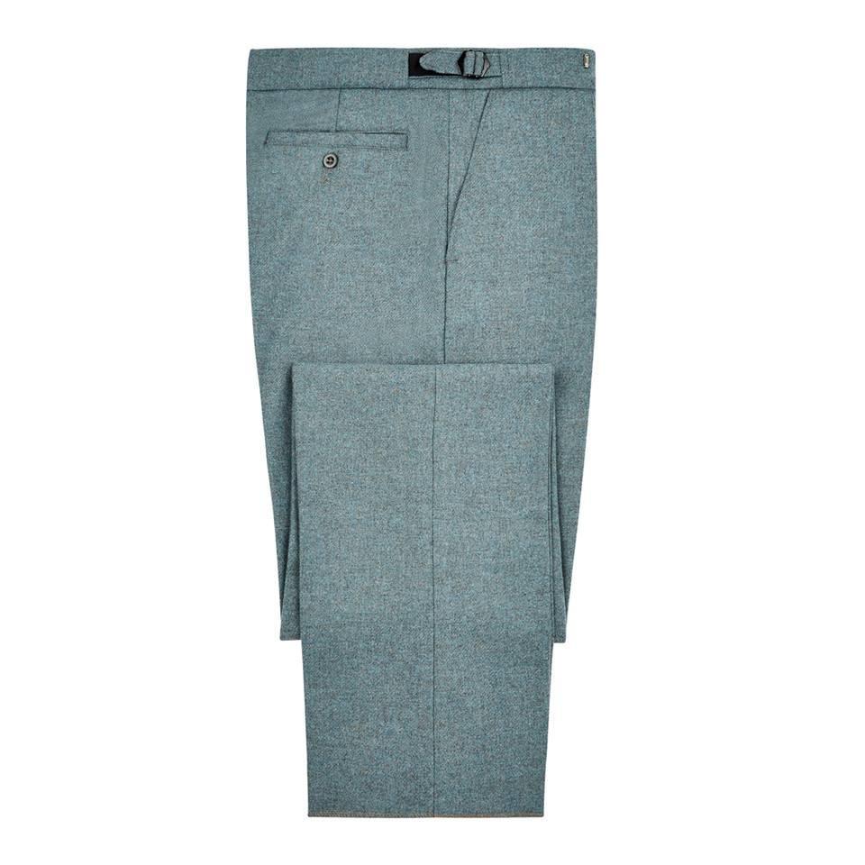 Pleated Spey Tweed Trousers