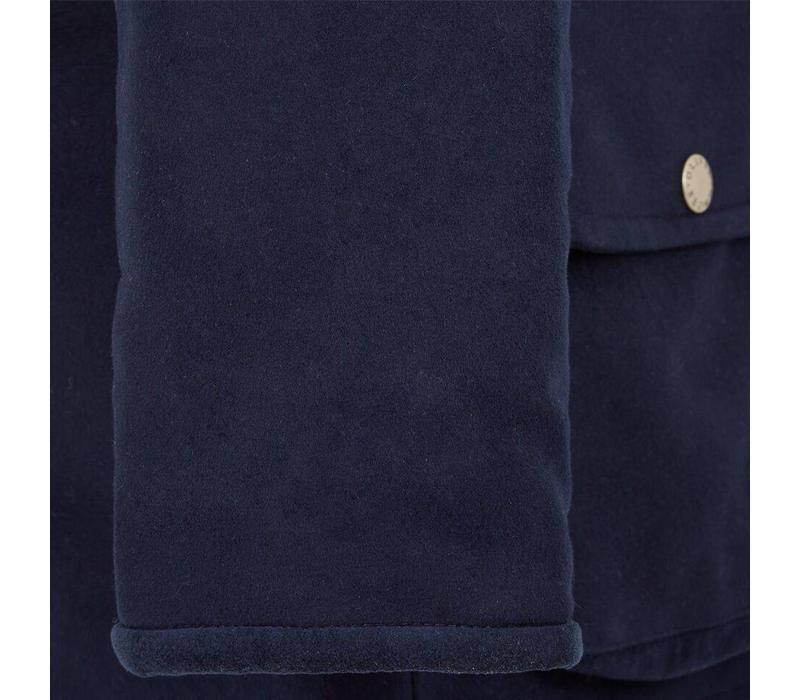 Moleskin Field Coat - Navy