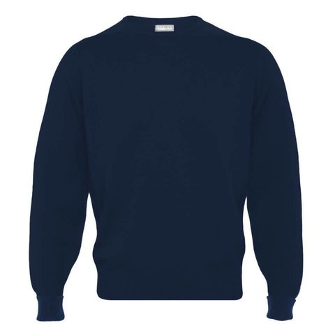 Merino Crew Neck Jumper - Dark Navy