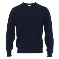 Merino V Neck Jumper - Dark Navy