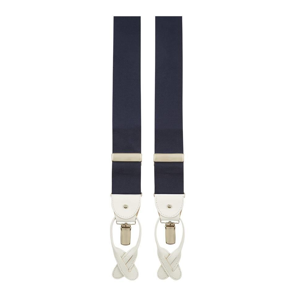 Royal Ascot Plain Woven Braces - Navy