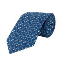 Fine Silk Tie, Bit - Navy and White