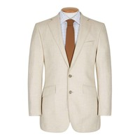 Single Breasted Un-lined Cashmere Jacket, Beige