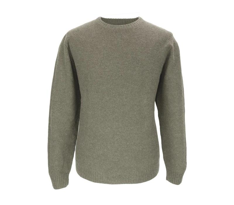 Cotton and Merino Crew Neck - Chinchilla