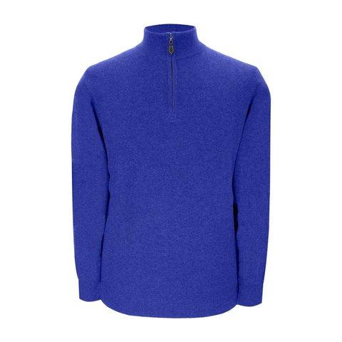 Cashmere Zip Sweater - Denim