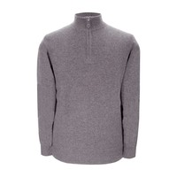 Cashmere Zip Sweater - Light Grey