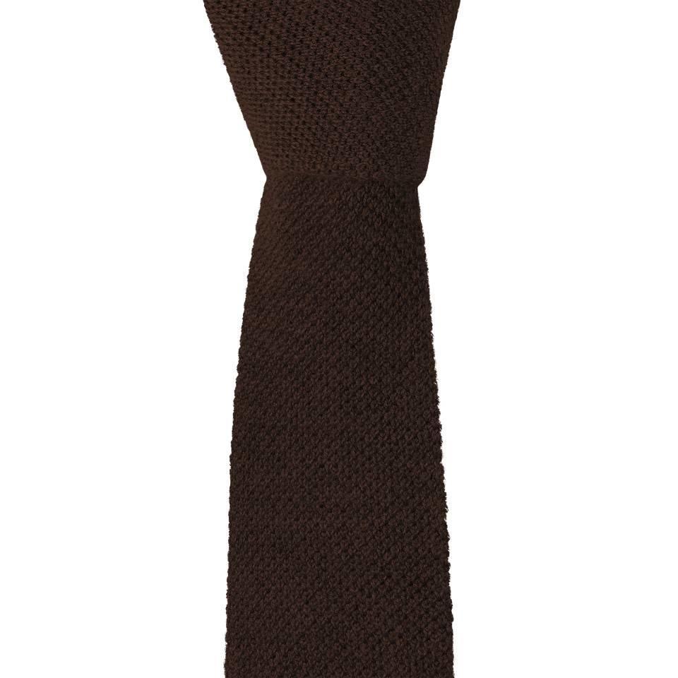 Cashmere Tie - Brown