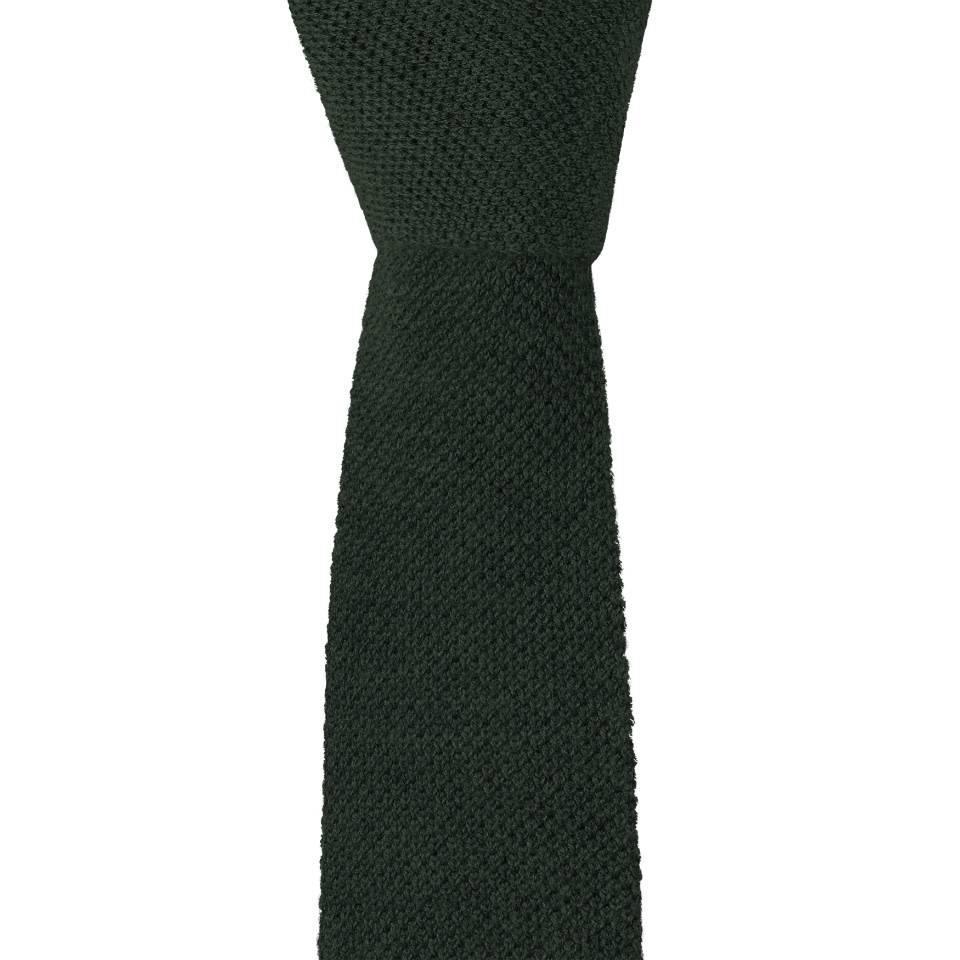 Cashmere Tie - Dark Green