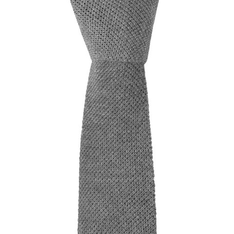 Cashmere Tie - Light Grey