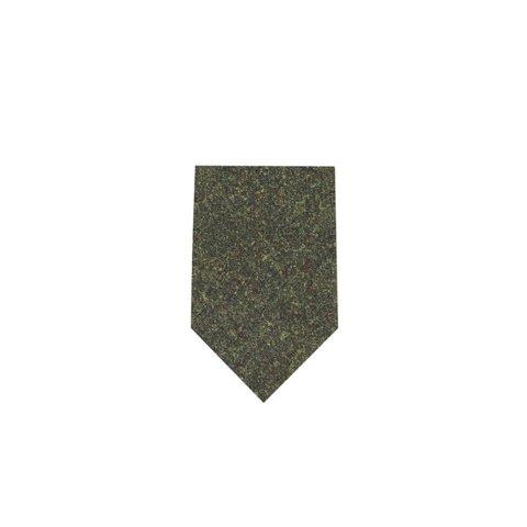 Wool Shooting Tie, Plain - Green Tweed