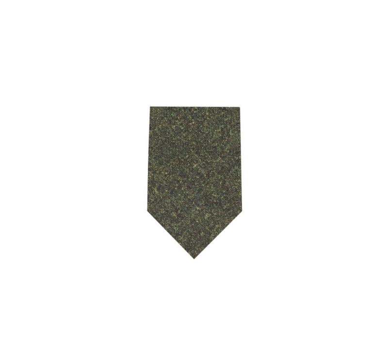 Wool Shooting Tie, Plain - Green Tweed