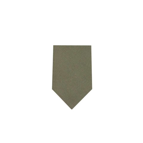 Wool Shooting Tie, Plain - Moss