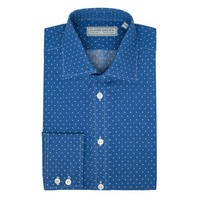 Polka Spot Patterned Shirt - Blue/White