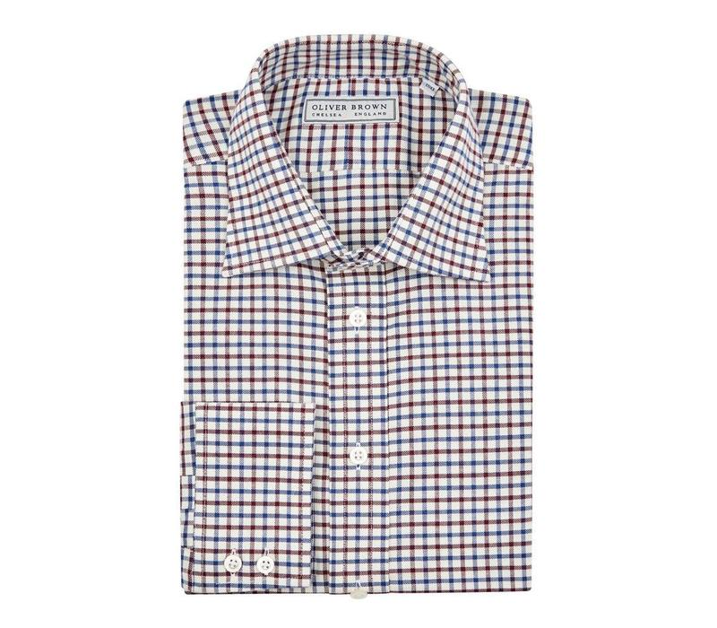 Tattersall Check Shirt - Red/Blue