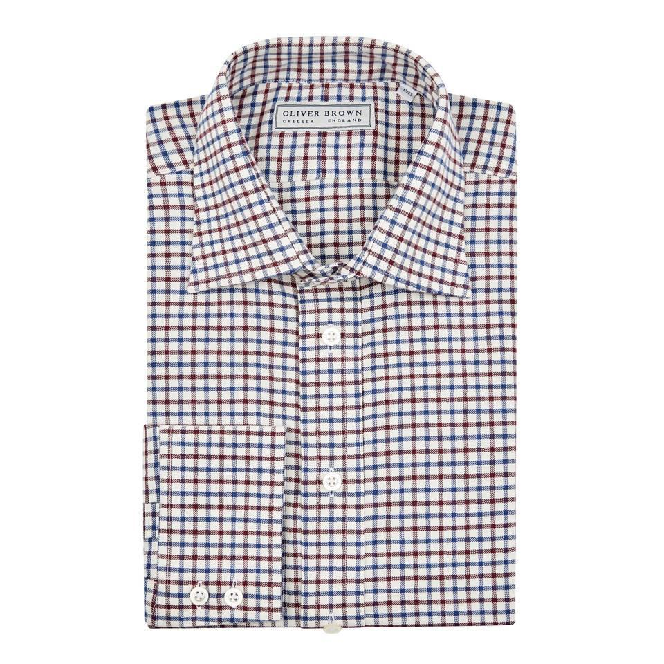 Tattersall Check Shirt - Red/Blue