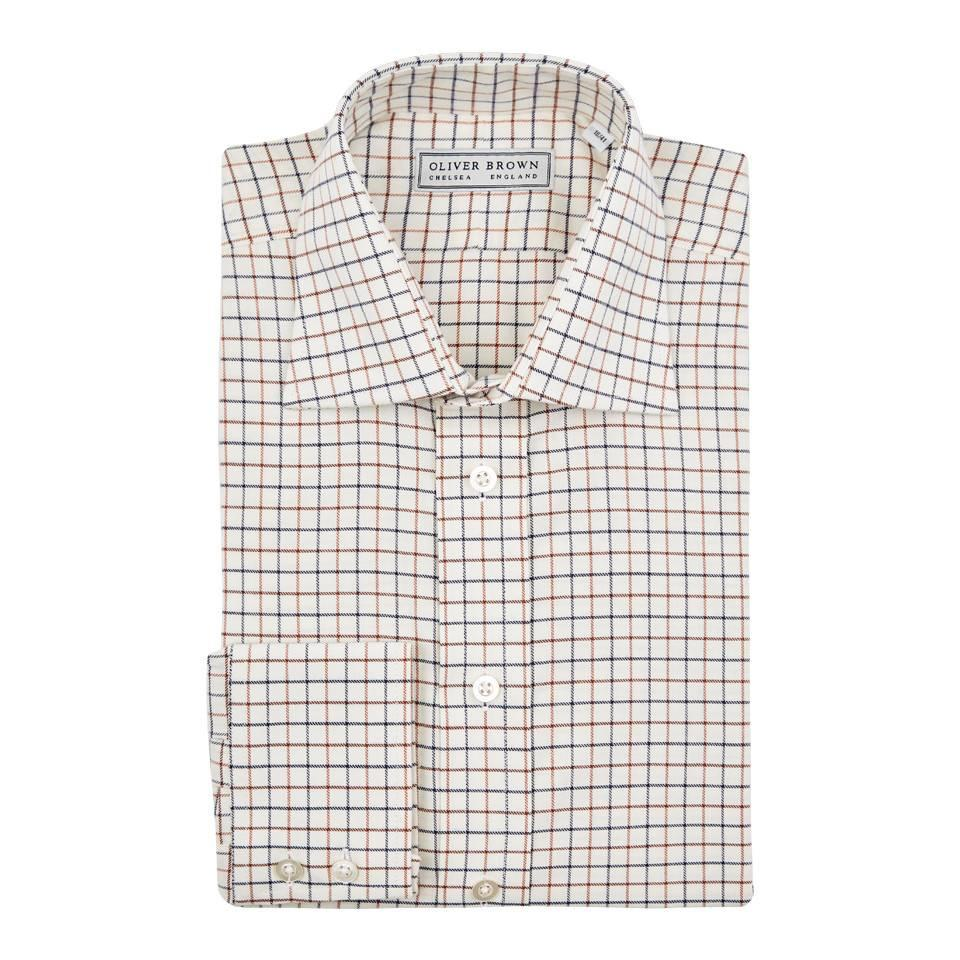 Tattersall Check Shirt - Ochre/Navy