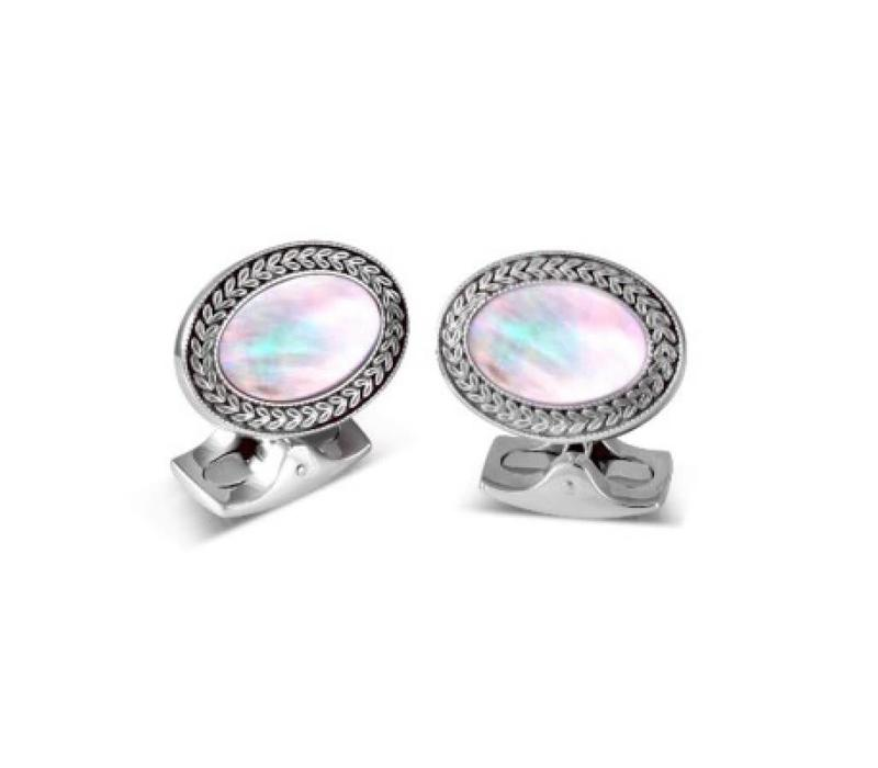 Oval Cufflinks with Mother of Pearl