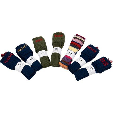 Handmade Printed Shooting Socks, Left-Right