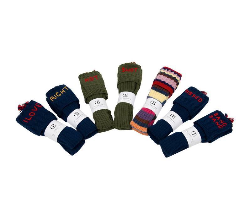 Handmade Printed Shooting Socks, Pissed-Missed