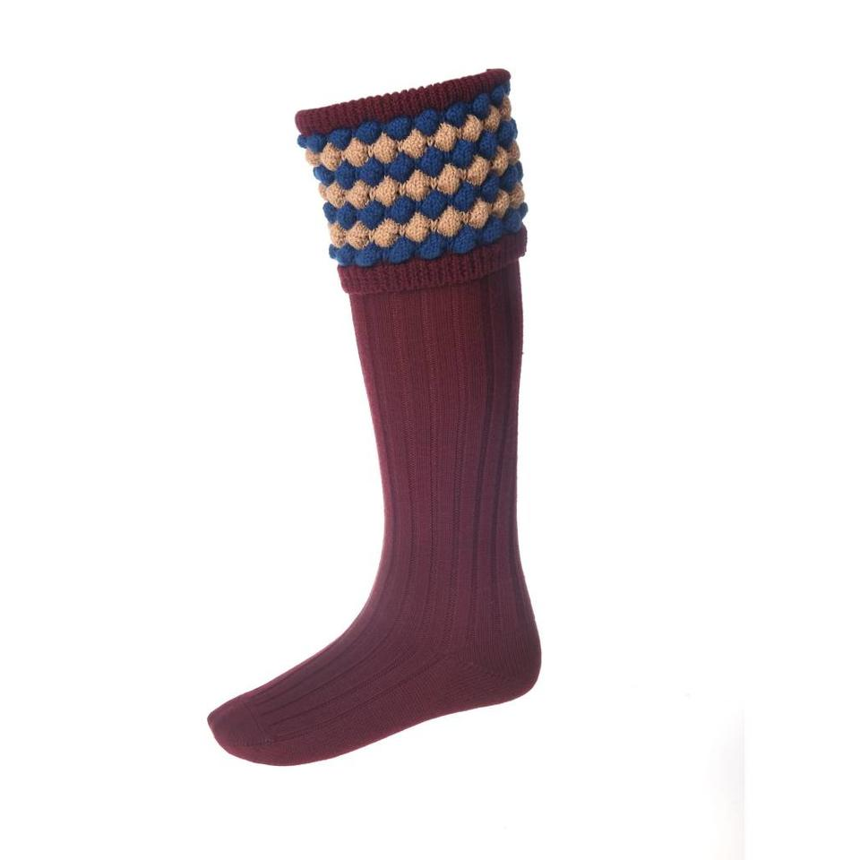 Angus Shooting Socks - Burgundy