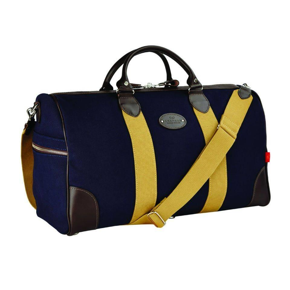 Chapman Canvas Flight Holdall - Navy