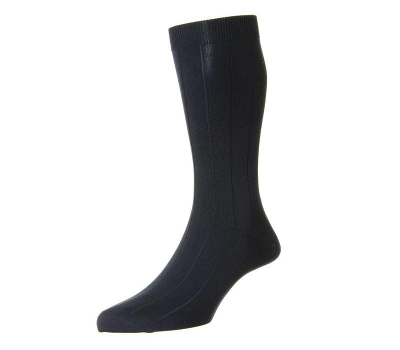 Sea Island Cotton Socks - Navy