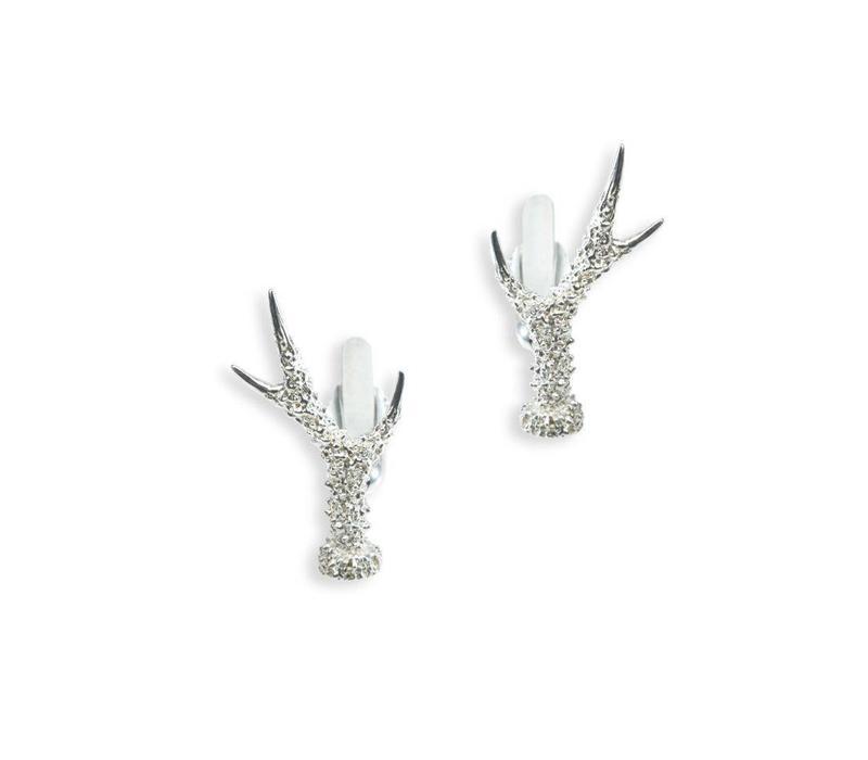 Solid Silver Field Sports Cufflinks, Roe Antlers