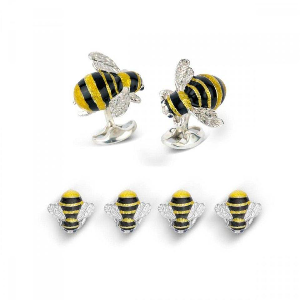 Sterling Silver Bumble Bee Dress Studs