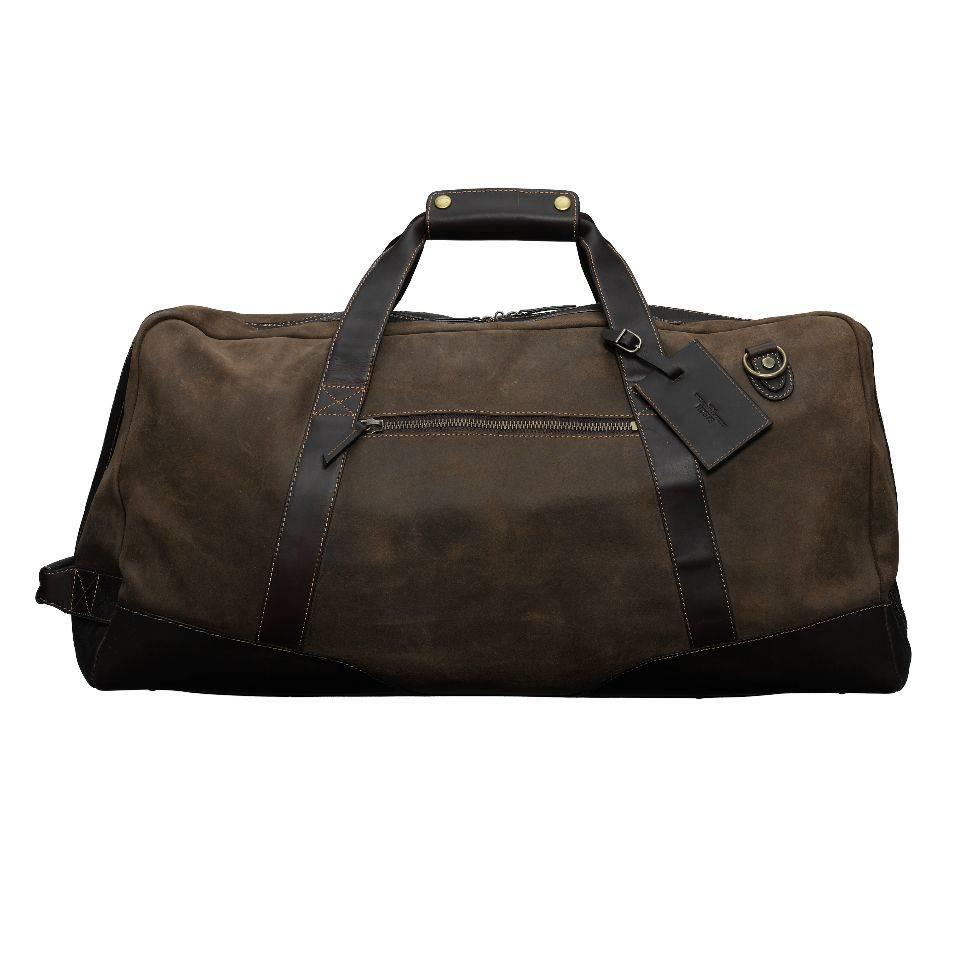 821f51d85c02 Baron Suede   Leather Duffel Bag - Small ...