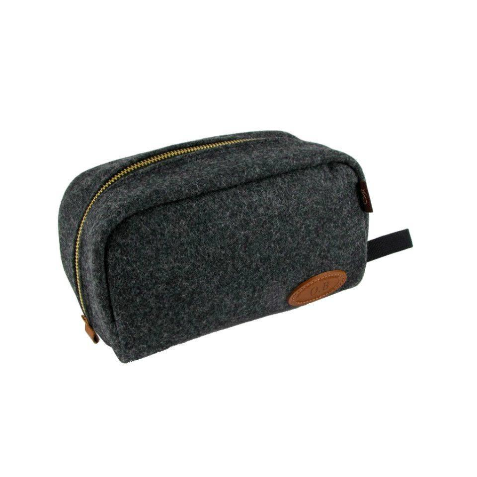 Chapman Wash Bag - Grey Tweed