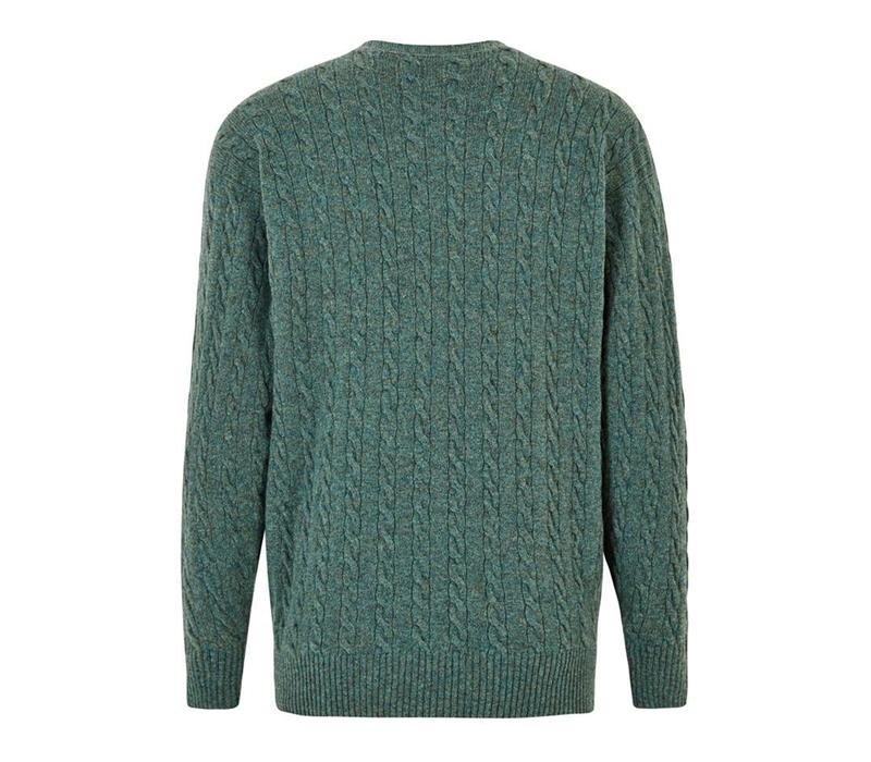 Cable Knit Crew Neck Jumper - Moorland
