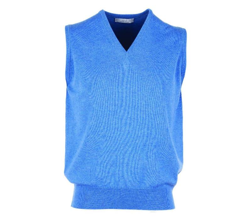 Cashmere Sleeveless Jumpers - Blue