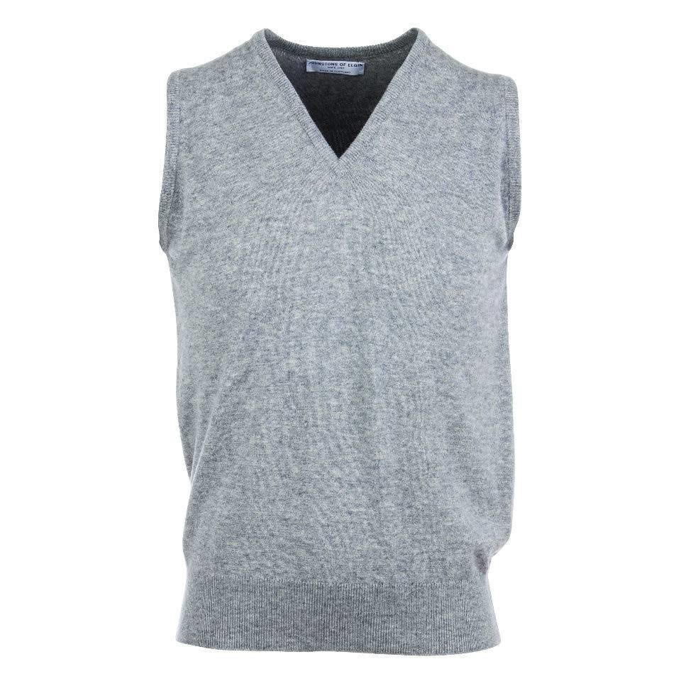 Cashmere Sleeveless Jumpers - Light Grey