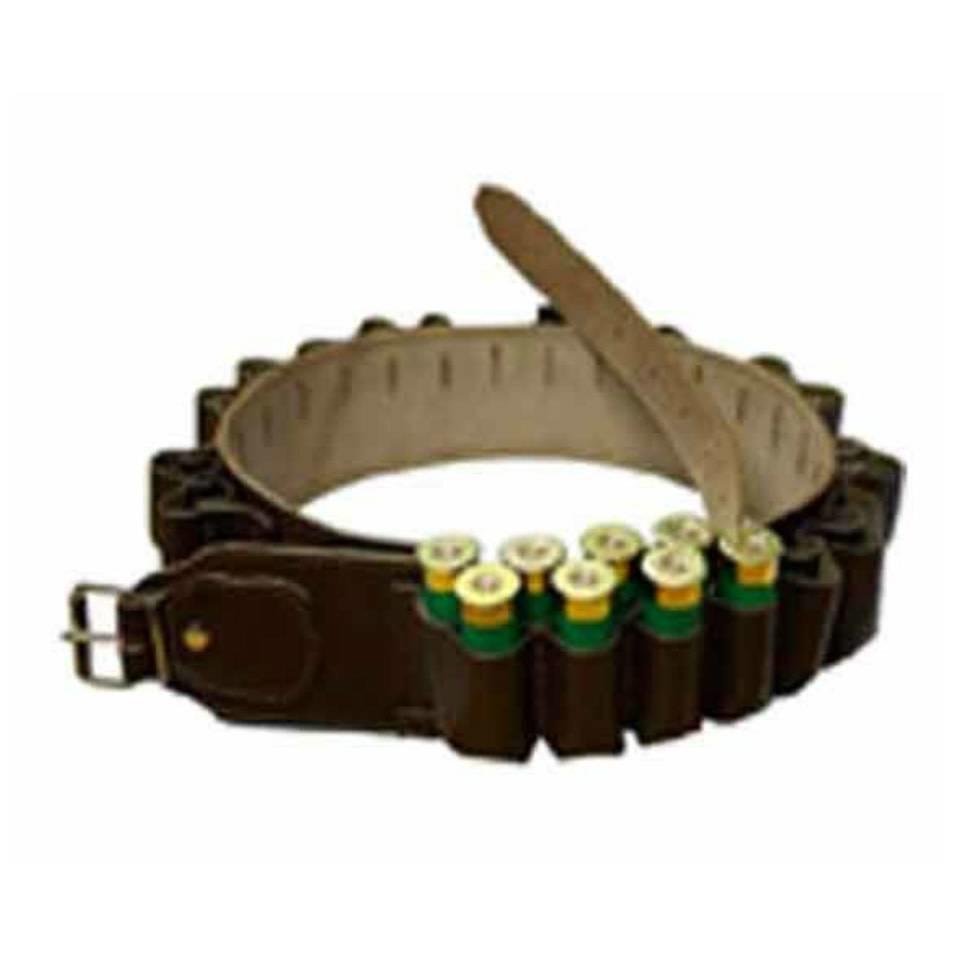 Double Leather Cartridge Belt - Dark Brown