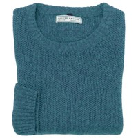 Cotton and Merino Crew Neck - Pine