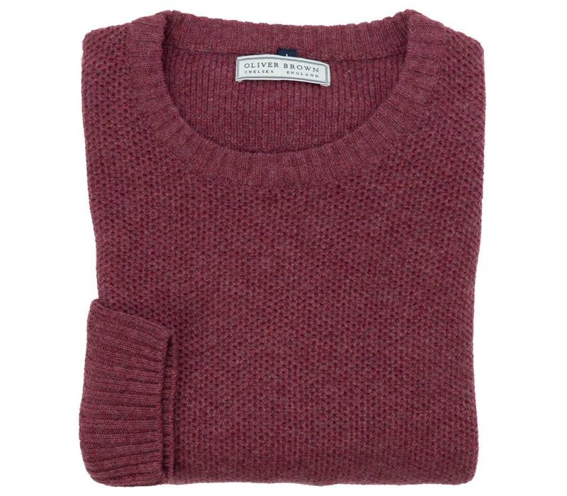 Cotton and Merino Crew Neck - Rosewood