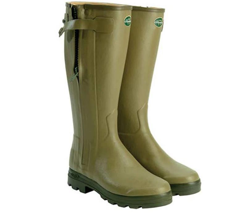 Ladies Le Chameau Chasseur Cuir Boots