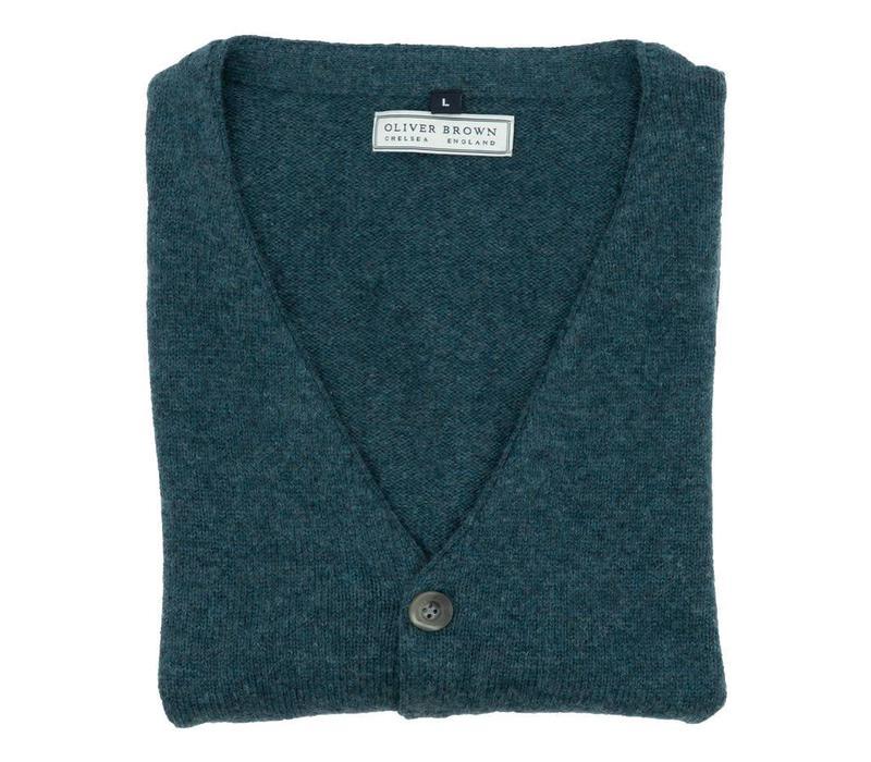 Cotton and Merino Waistcoat - Pine