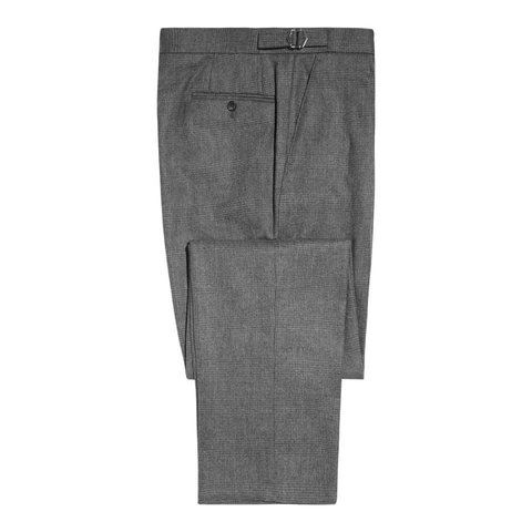 Tweed Trousers, Glencheck - Grey