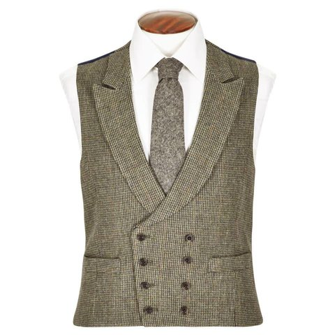 Double Breasted Tweed Waistcoat, 2017 - TW1
