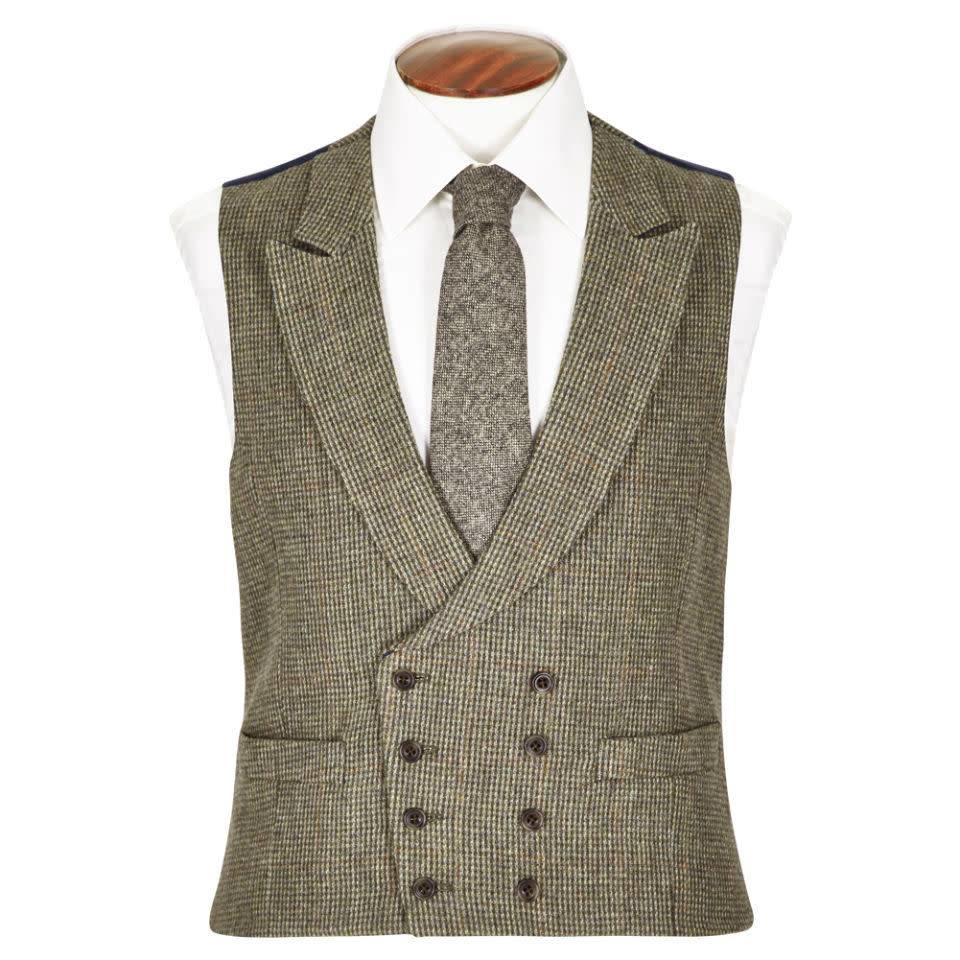 Double Breasted Tweed Waistcoat - TW1