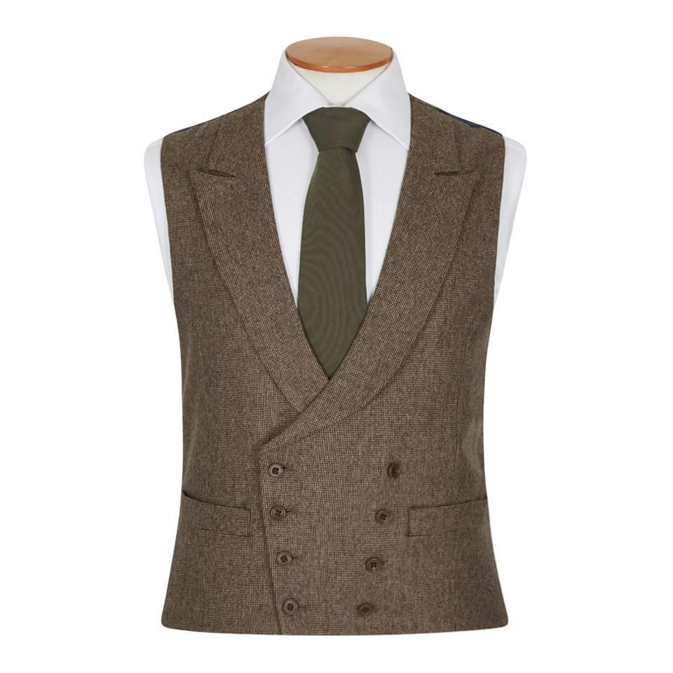 Double Breasted Tweed Waistcoat, 2017 - TW4