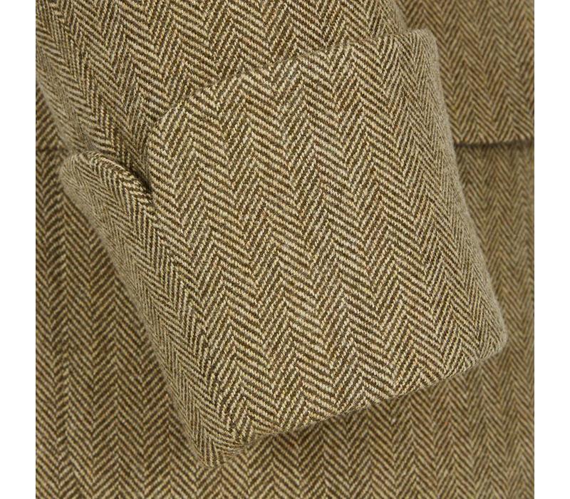 Single Breasted Tweed Overcoat, Gauntlet Cuff