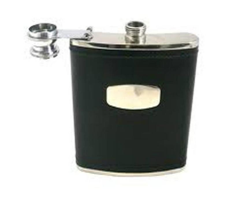 6oz Black Hip Flask